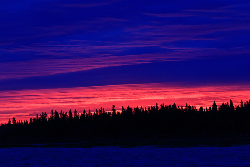 Thin band of purple colour over Butler Island before sunrise.