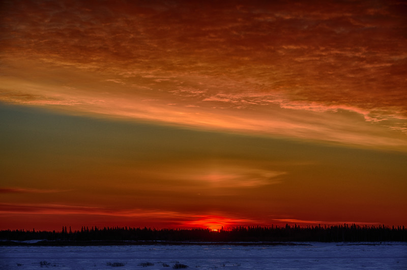 Sunrise at Moosonee. HDR efx dark.