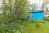 Backyard showing shed at Keewaytinok Native Legal Services.