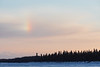 Rainbow fragment over the Moose River.