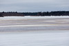 View across the Moose River. Lots of water on top of the ice.