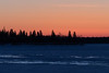 South end of Butler Island in the Moose River at Moosonee before sunrise 2017 March 5th.