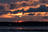 Cloudy sunrise at Moosonee.