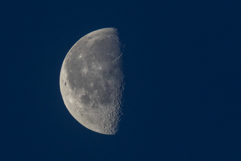 Moon in the morning sky 2017 April 18th.