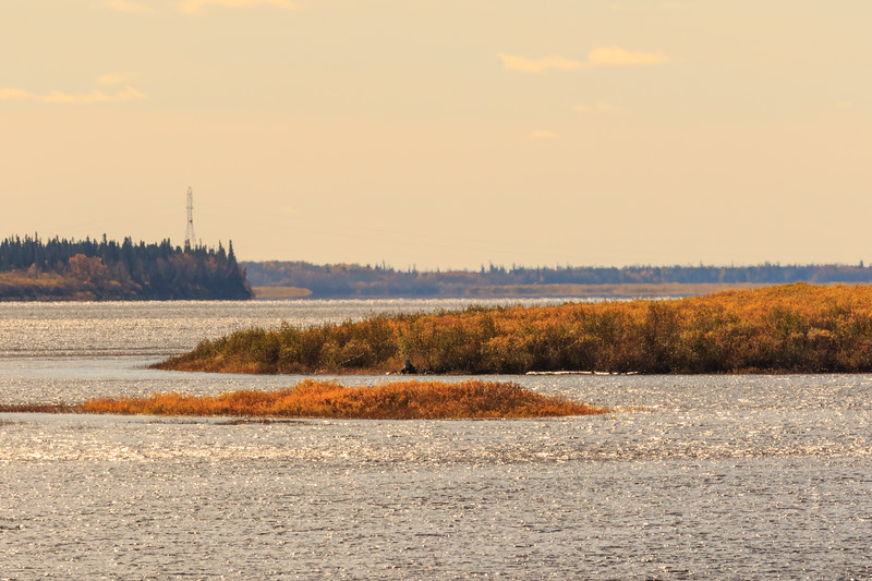 Looking up the Moose River from Moosonee 2017 October 14th.