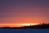 North end of Butler Island before sunrise over the frozen Moose River 2017 April 9th.