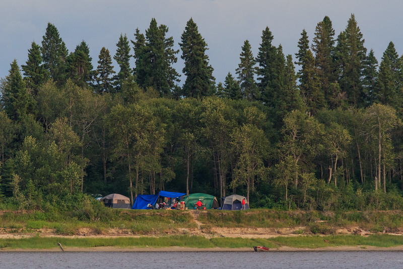 Camping at Tidewater Park on Charles Island across the Moose River from Moosonee 2017 August 4th.
