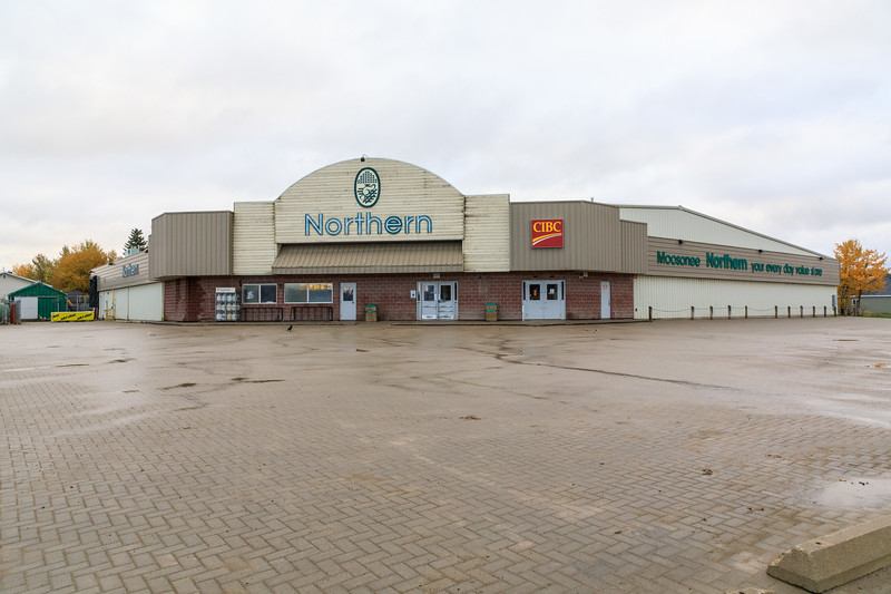 Moosonee Northern Store on a dull morning.