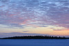 Looking across the Moose River from Moosonee shortly before sunrise to purple skies on a cold (minus 32C) morning.
