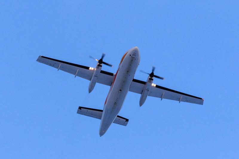 Air Creebec cargo HS-748 over Moosonee