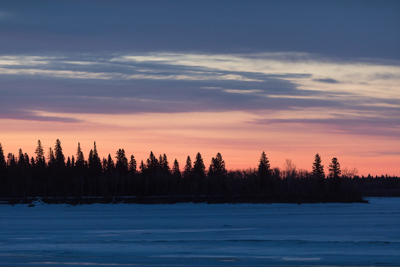 South end of Butler Island before sunrise.