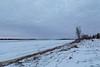 Looking up the Moose River at Moosonee just before sunrise.