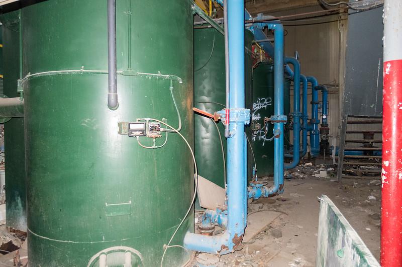Old water plant in Moosonee. Interior.