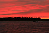Canoe on the Moose River before sunrise. White balance off spray.