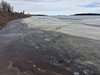 Looking down the Moose River shoreline from public docks 2017 April 22nd