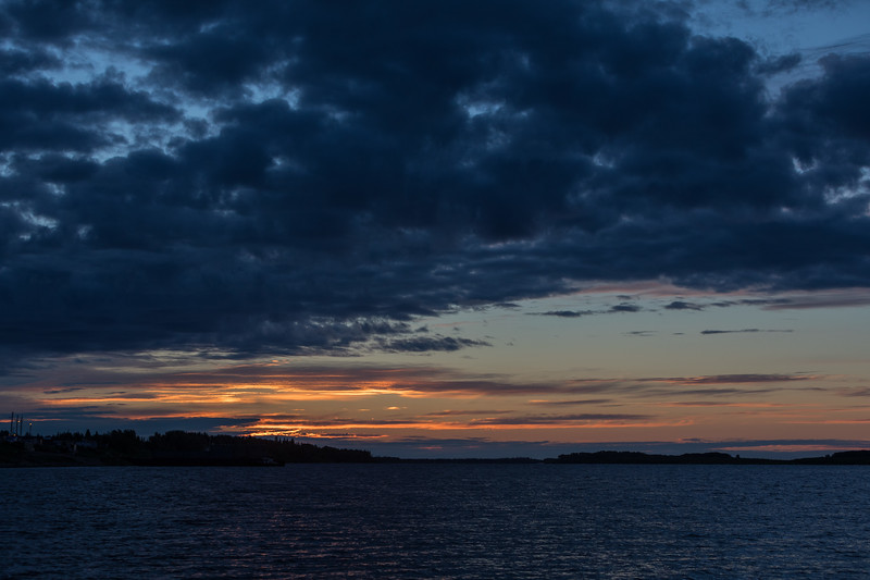 Wide view down the Moose River a few minutes before sunrise.