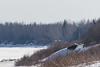 Bush plane landing up the Moose River.