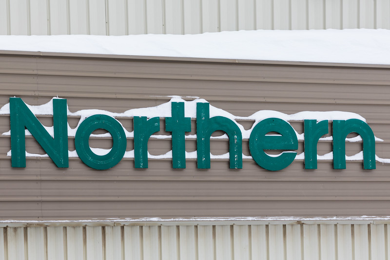 Northern with snow. sign.