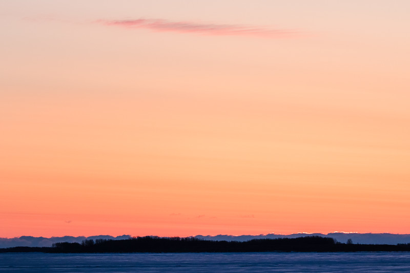 Looking down the Moose River shortly before sunrise 2017 April 24th.