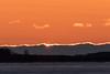 Sunrise at Moosonee, looking down the river 2017 April 24th.
