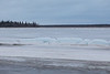 Ice ridge along tidemark still intact. South end of Butler Island in the disance.