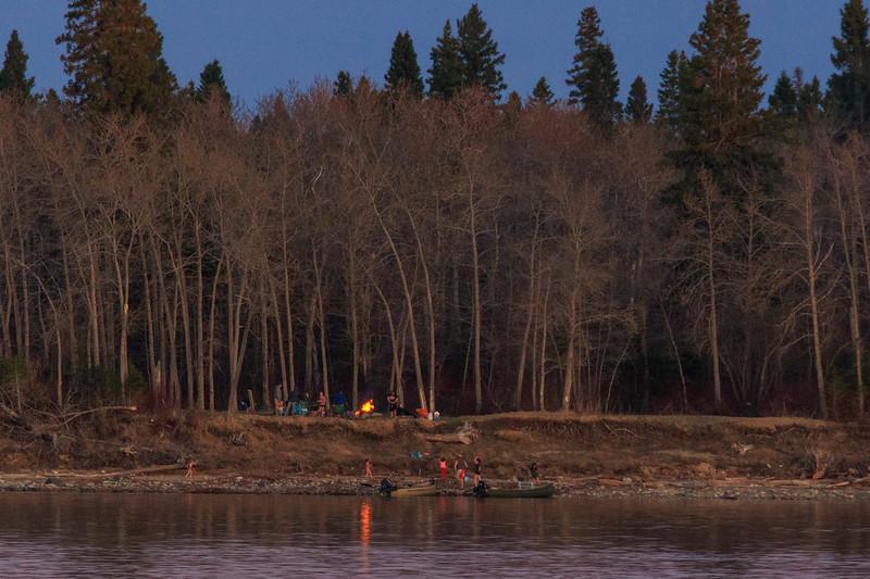 Tidewater Park on Charles Island in the Moose River at Moosonee.