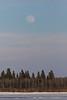Faint moon over south end of Butler Island.