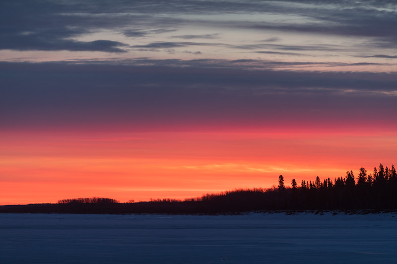 North end of Butler Island before sunrise.