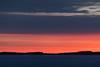 Looking down the Moose River before sunrise from Moosonee.