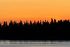 Sky shortly before sunrise across the Moose River.