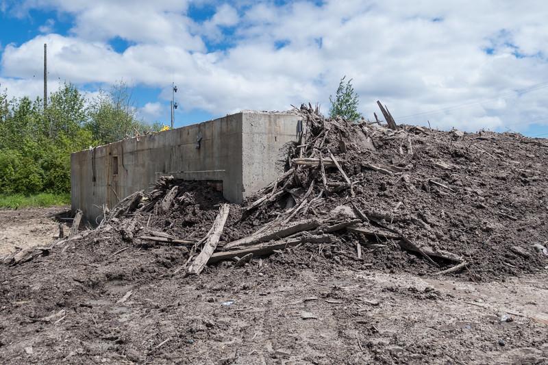 Old water plant site in Moosonee.