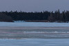 Looking across the Moose River towards the Gutway / Cutway just before sunrise 2017 April 24th.