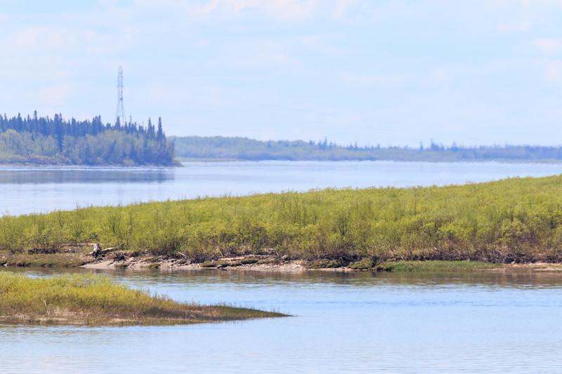 Looking up the Moose River from Moosonee.