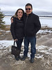 Cathleen and Dwight Sutherland by Revillon Road in Moosonee 2017 April 19th
