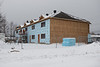Housing for Ontario Government workers under construction at corner of Fourth Street and Ferguson Road in Moosonee.