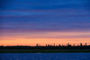 Pastel colours low in the sky across the Moose River.