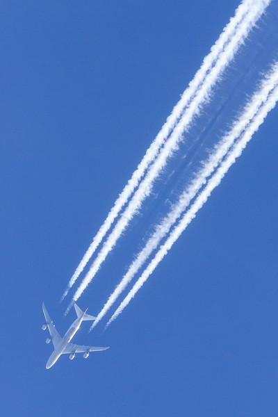 Jet high above Moosonee.