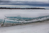Broken ice along the tidemark, looking across to the Gutway. Pseudo HDR efx bright.