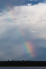 Partial rainbow across the Moose River.