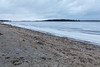 Looking down the Mooose River in Moosonee. Butler Island in the distance. Ice along the Moosonee shoreline intact. 610 am 2017 April 29th.
