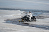 McCauley's Hill 2017 April 14th Good Friday. Snowmobile on the Moose River.