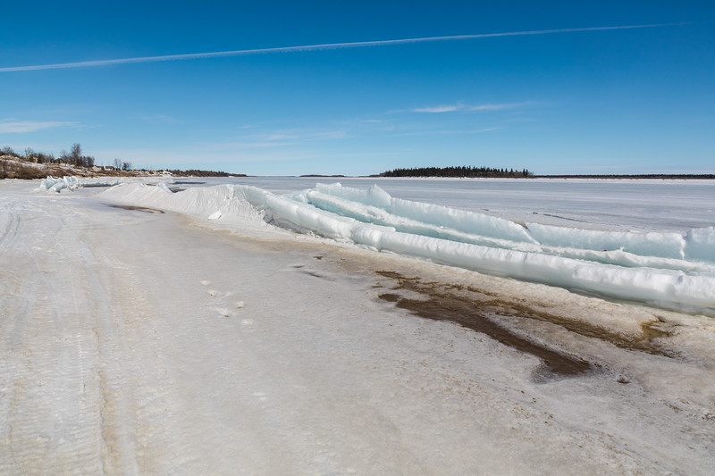 Broken ice along the tidemark looking down the river 2017 April 8th.