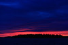 Dark skies above Butler Island before sunrise.
