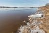 Moose River shoreline looking up river.