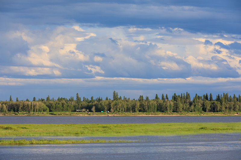 Tidewater Park on Charles Island in the Moose River at Moosonee.