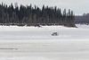 Van driving on the Moose River 2017 April 4th.