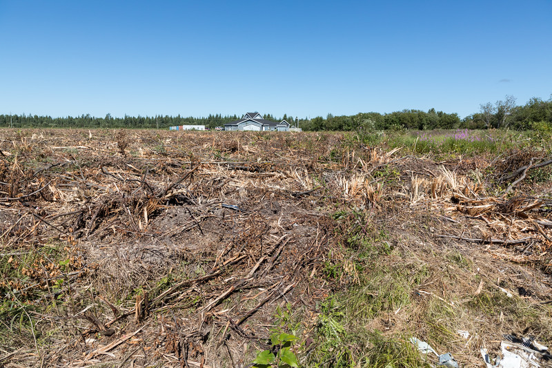 Moosonee Health Centre from end of Wavey Crescent across newly cleared land.