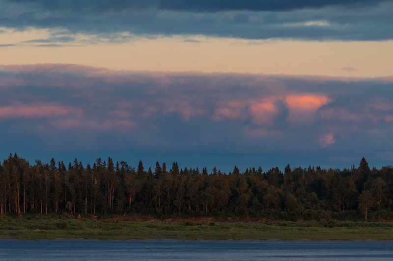 Looking across the Moose River just before sunset 2017 August 2nd.
