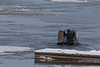 Taxi boat leaving public docks for the trip to Moose Factory 2017 November 8th.
