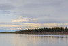 Clouds over the north end of Butler Island in the Moose River at Moosonee, Ontario.